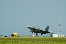 F22 Raptor Fighter Jet Landing