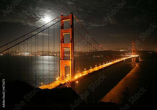 Foto-Kassettenrollo premium - golden gate