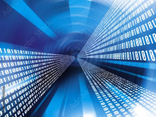 Fotografía  data binary code