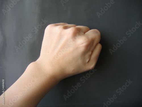 hand on gray Fototapete