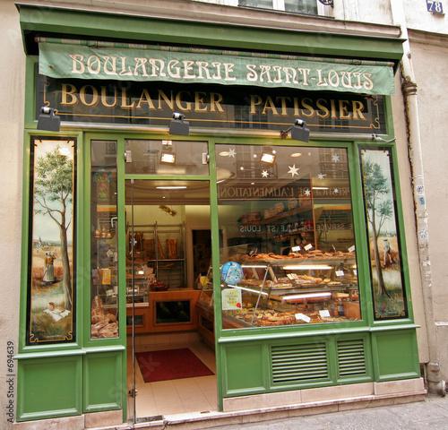 Staande foto Bakkerij bäckerei in paris