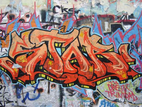 Foto op Aluminium Graffiti graffiti am mauerpark 7