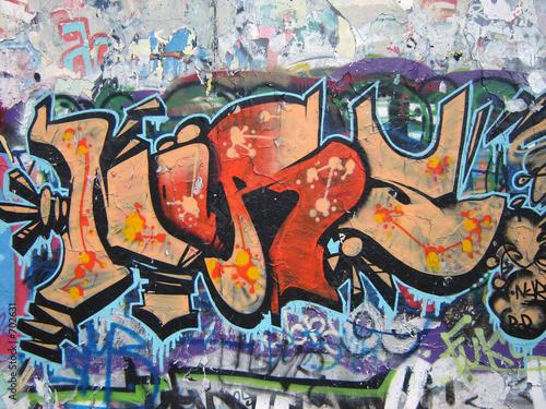 Foto op Aluminium Graffiti graffiti am mauerpark 6