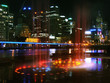 canvas print picture melbourne city night
