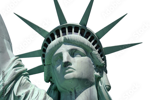 statue of liberty isolated close up Fototapeta