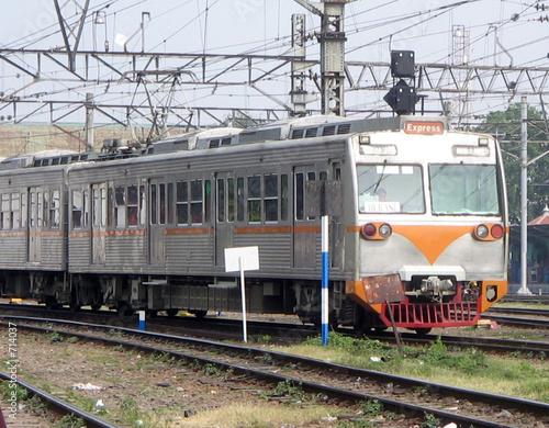 electric train in jakarta
