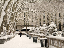 Bryant Park In Winter