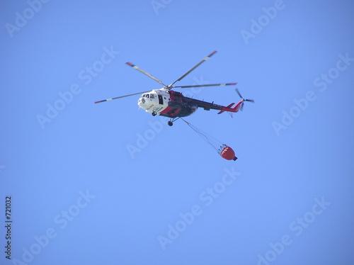 Staande foto helikopter