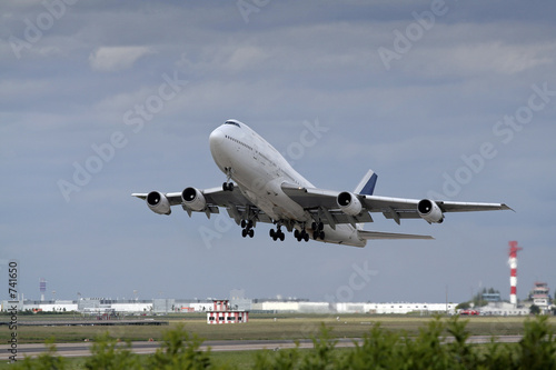 Photo avion decollage
