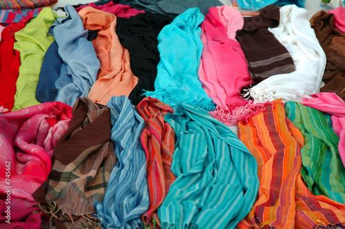 Deurstickers Paradijsvogel colorful fabrics