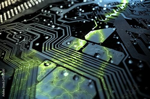Fotografía  chip eléctrico
