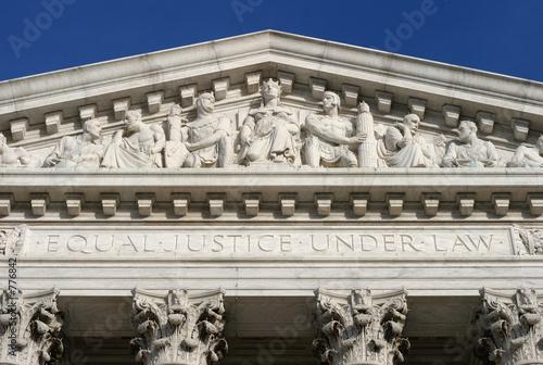 Stampa su Tela equal justice under law