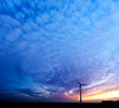 canvas print picture - energy and sunset