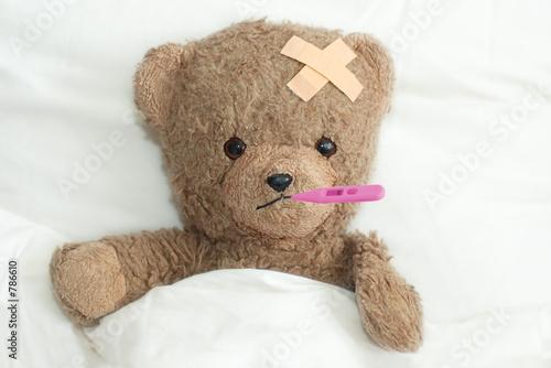 Fotografia  teddy is sick