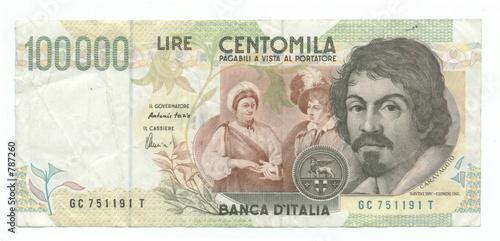 Obraz na plátně 100,000 italian lire