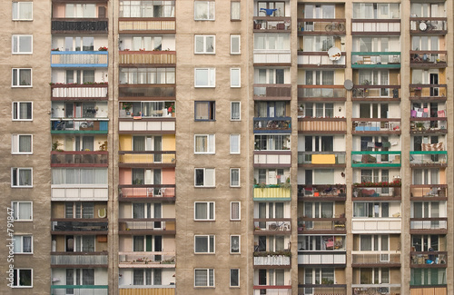 block of flats Fototapete