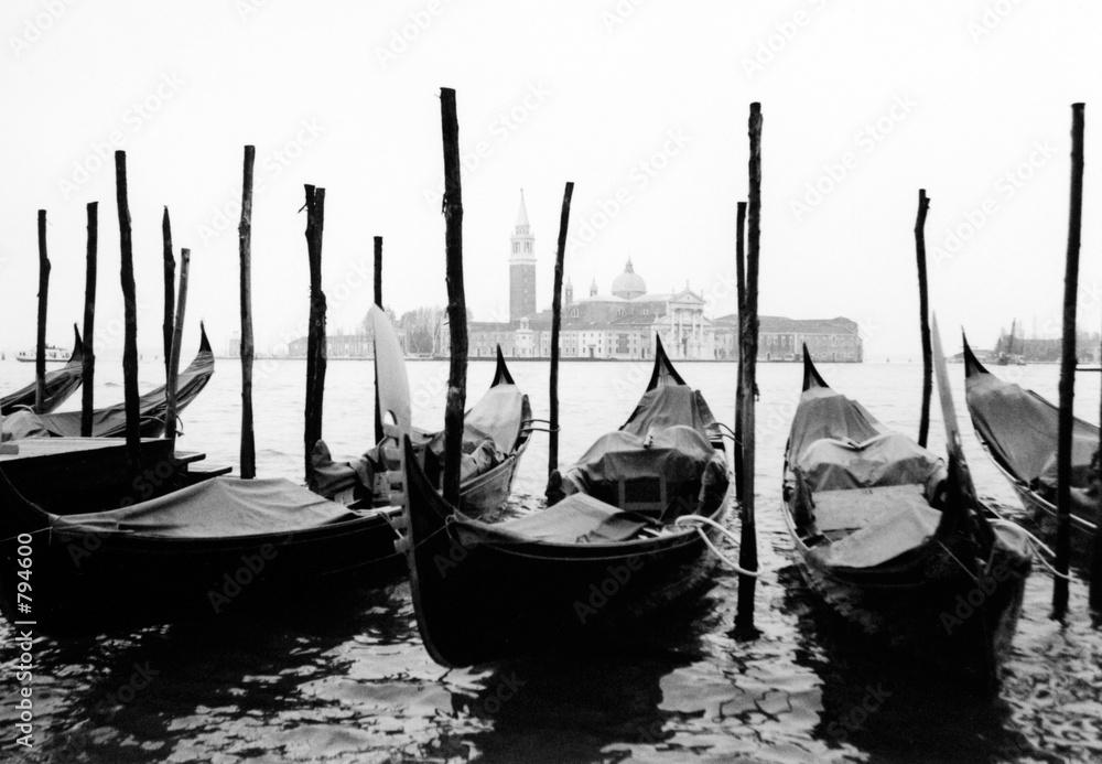 Fototapety, obrazy: venise, gondoles