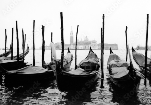 Obraz Wenecja, gondole - fototapety do salonu