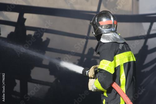 Fotografie, Obraz  pompiers