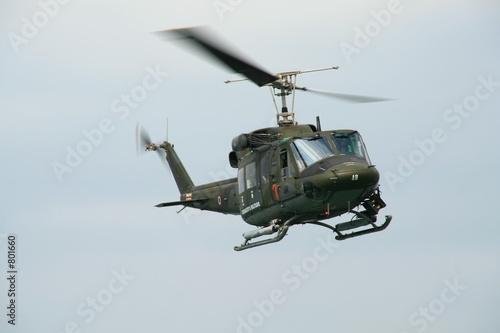 army helicopter Billede på lærred