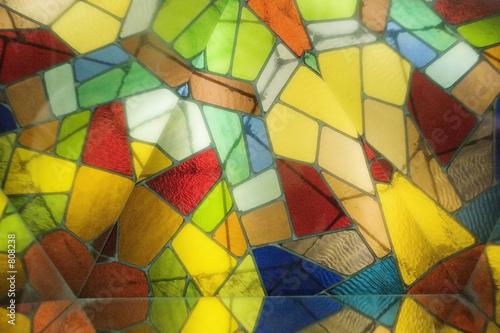 einzelne bedruckte Lamellen - stained glass (von Mat Hayward)