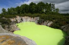 Lake Ngakoro In New Zealand