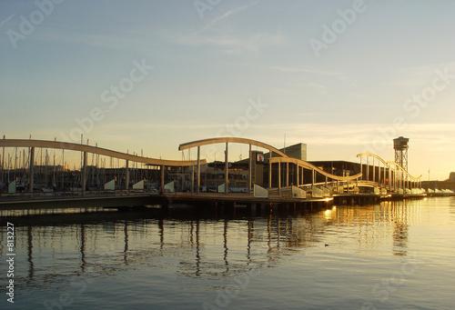 sunrise in the wharf Canvas Print