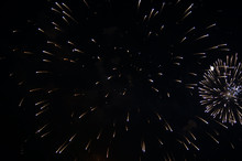 Firework And Moon