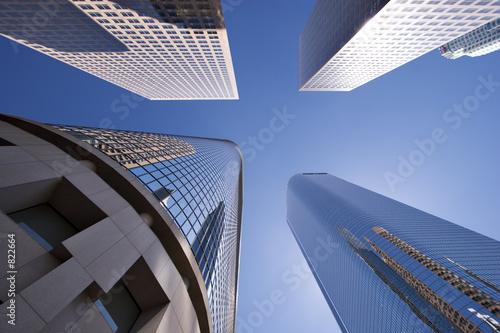 Staande foto Los Angeles downtown high rise