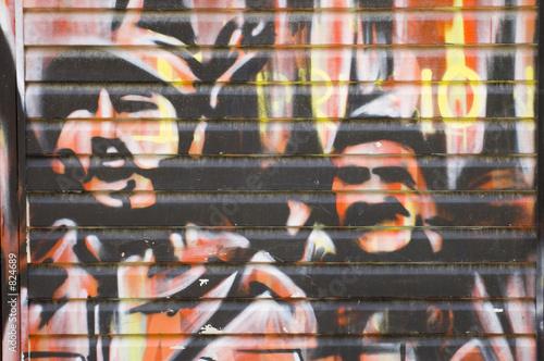 revolution graffiti Wallpaper Mural