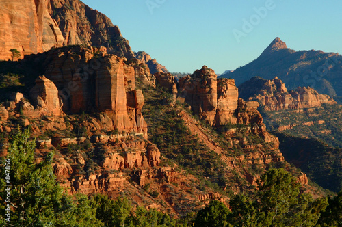 Poster de jardin Parc Naturel view of red rocks and landscape in zions park