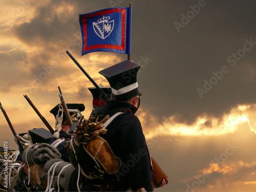 Fototapeta nineteenth century soldiers marching