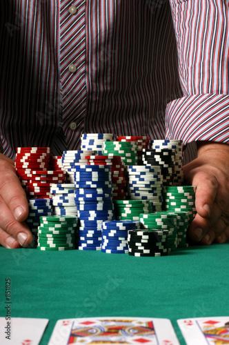 Fotografie, Obraz  poker player going all in