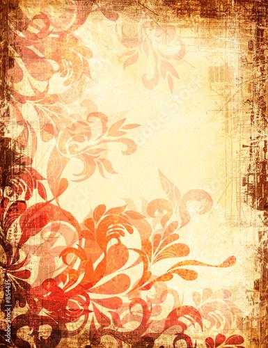 einzelne bedruckte Lamellen - fiery aged grunge backdrop (von Natalya Semenchuk)