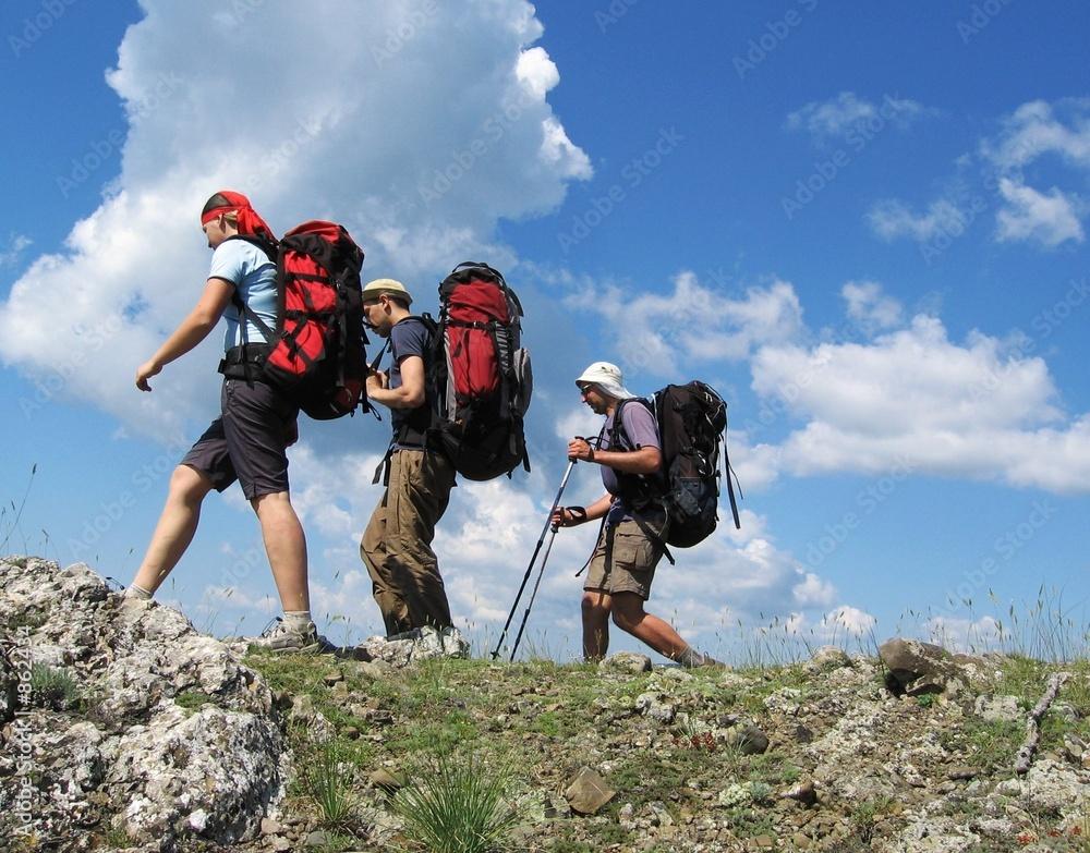 Fototapety, obrazy: three climbers 1