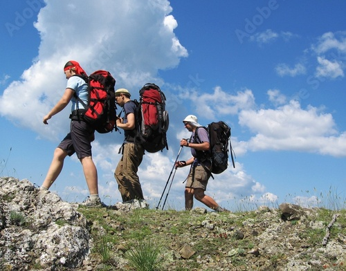 Fototapeta three climbers 1 obraz