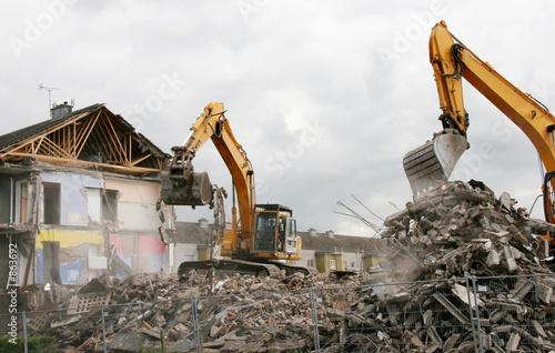 demolition 1 Canvas Print