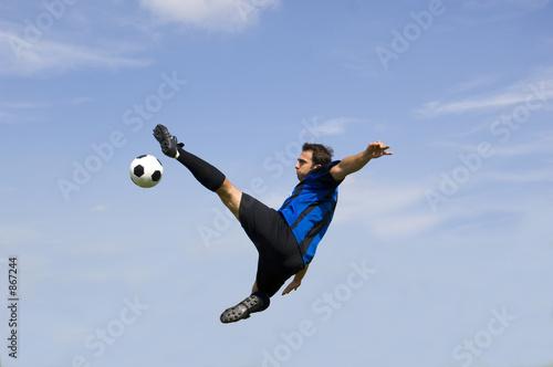 Fotografie, Obraz  football - soccer player volley