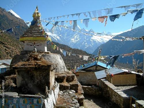 Keuken foto achterwand Nepal stupa in nepal 4