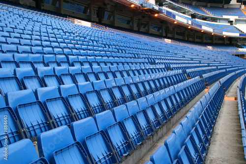 Photo sur Toile Stade de football blue seats