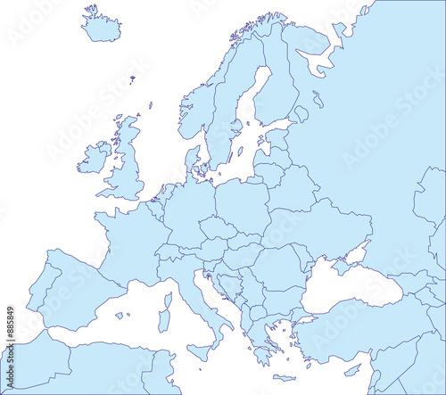 Obraz map europe landkarte europa v1 - fototapety do salonu