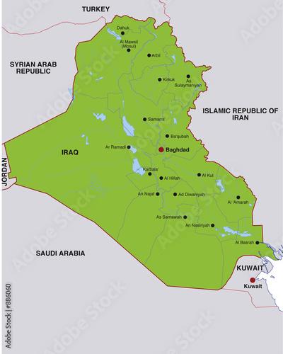 Fotografering  map iraq landkarte irak