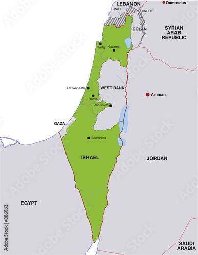 Map Israel Landkarte Israel Buy This Stock Illustration And