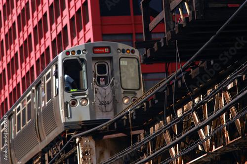 Poster Chicago loop railway