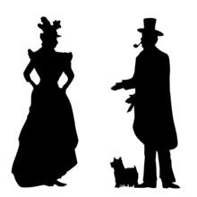 Vintage People Illustration