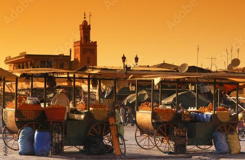 Deurstickers Marokko marrakech djema el fna