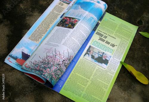 magazine Canvas Print