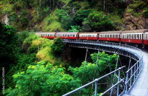 Canvas Print scenic railway