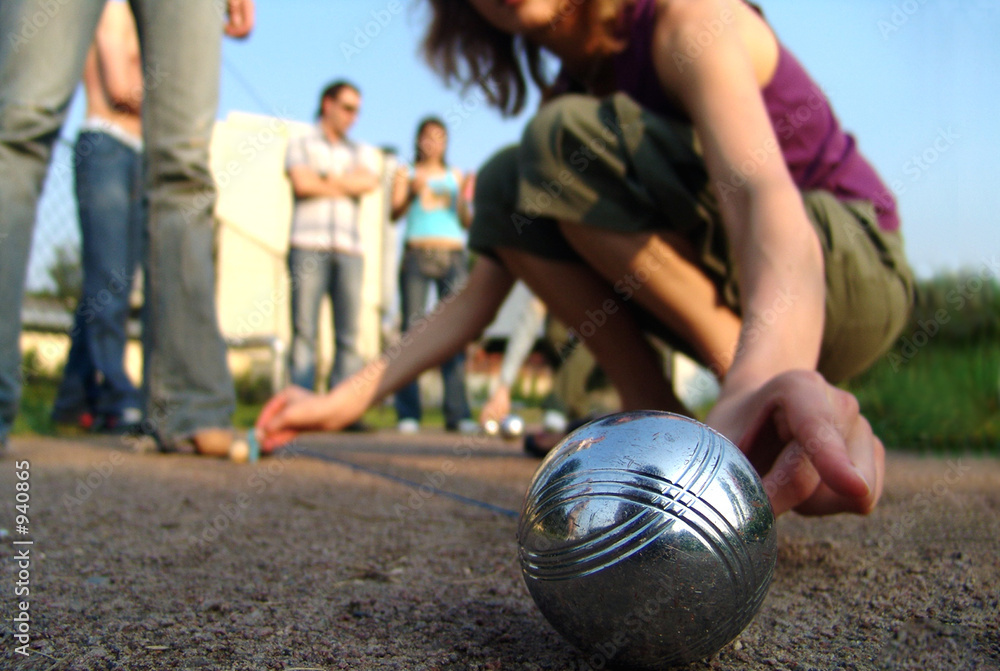 Fototapety, obrazy: petanque players