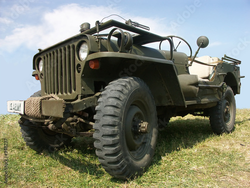 Fotomural us army jeep